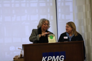Summit Chair Dianne DIllon-Ridgley and Board Chair Kathy Robb